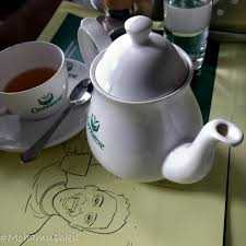 Enjoying Tea in India Darjeeling